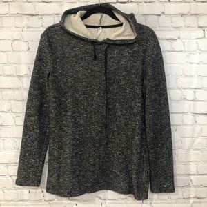 [Fabletics] side zip sweatshirt/hoodie
